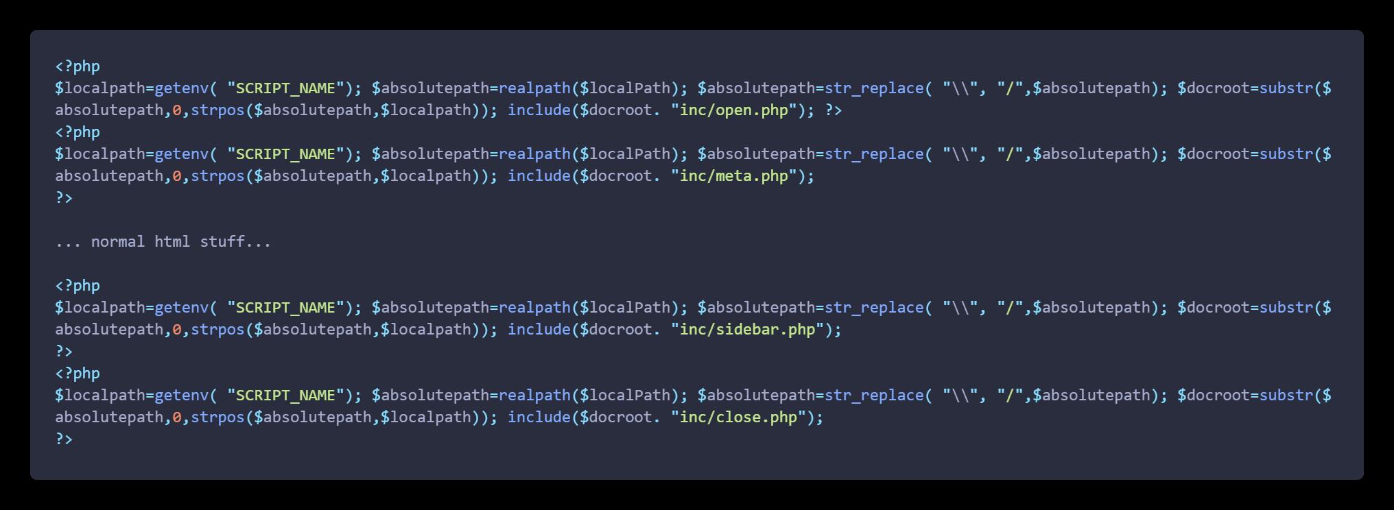 redeclare code